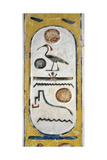 Egypt, Thebes, Luxor, Valley of the Kings, Tomb of Siptah, Close-Up of Mural Painting Giclée-tryk