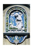 Madonna and Child, Painted Majolica, Asolo, Veneto, Italy Giclee Print