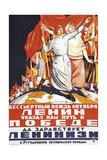 Lenin Propaganda Poster Giclee Print