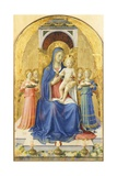 Madonna and Child Enthroned with Angels Giclee Print