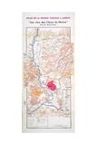 Map of 'Les Vins Des Cotes Du Rhone' Giclee Print