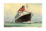 Künstler Cunard White Star, Dampfschiff Aquitania Giclee Print