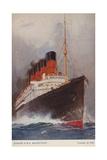 Cunard Liner RMS Mauretania Giclee Print