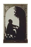 Austria, Vienna, Silhouette of Composer Anton Bruckner at the Organ Giclee Print
