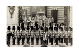 London, King George Vi, Queen Elizabeth, Coronation Giclee Print