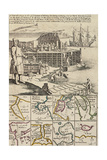 A Fishermen Colony in Newfoundland, 1709-1720, from a New and Correct Map of the World Giclee Print