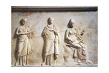 Greek Civilization, Relief Depicting Three Muses Giclee Print