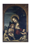 Madonna and Child with Two Angels Giclee Print