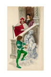 Michelangelo, as a Boy, Carving a Statue from the Snow Giclee Print
