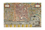 Map of Palermo from Civitates Orbis Terrarum Giclee Print