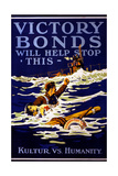 """Victory Bonds Will Help Stop This"", 1918 Giclee Print"