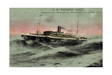 Messageries Maritimes, MM, S.S. Pierre Loti, Dampfer Giclee Print