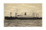United States Lines, USL, S.S. President Roosevelt Giclee Print