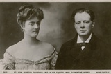 Winston Churchill Mp and His Fiancee Clementine Hozier Photographic Print
