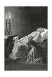 Mort De Jean Valjean Entre Cosette Et Marius - Illustration from Les Misérables,19th Century Giclee Print by Alphonse Marie de Neuville