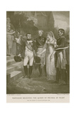 Napoleon Receiving the Queen of Prussia at Tilsit Giclee Print