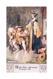 Queen Anne ….Did Overrule His Proper Will Giclee Print by Charles Edmund Brock