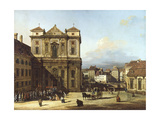 Freyung Square from North-East, Vienna Giclee Print by Bernardo Bellotto