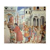 Stories of St Augustine Giclée-tryk af Benozzo Gozzoli