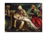 Pieta with Saint Mark, Ambrose, John the Evangeli, Saint and Antonio Abate Giclee Print by Amico Aspertini