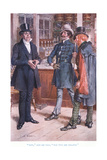 """Now"" Said Mr Tigg, ""You Two are Related"" Giclee Print by Charles Edmund Brock"