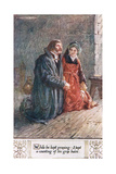 """While He Kept Praying…I Held A-Counting of His Grey Hairs"" Giclee Print by Charles Edmund Brock"