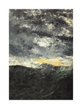 Sea Storm Giclee Print by August Johan Strindberg