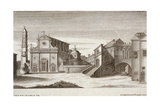 Saint Lawrence's Cathedral and T Bishop's Palace from the History of Viterbo Giclee Print
