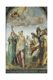 Augustus and Sibyl, 1528 Giclee Print by Baldassare Peruzzi