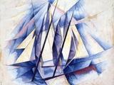 Sailing Boats, 1919 Giclee-trykk av Charles Demuth