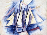 Sailing Boats, 1919 Giclee Print by Charles Demuth