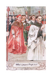 What a Pompous Priest it Is Giclee Print by Charles Edmund Brock