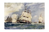 The Sailing Training Squadron, 1899 Giclee Print by Charles Edward Dixon