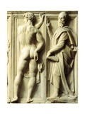 Prophet and Nude Figures Giclee Print by Baccio Bandinelli