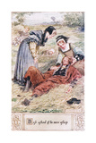 Bess Asked If He We Asleep Giclee Print by Charles Edmund Brock