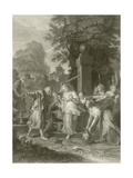 The Meeting of Eliezer and Rebecca at the Well Giclee Print by Antoine Coypel