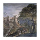 Hunting Scene Giclée-tryk af Antonio Tempesta