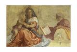 Italy, Florence, Basilica of Santissima Annunziata, Cloister of Dead, Madonna Del Sacco Giclee Print by Andrea del Sarto