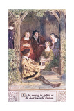 In the Evening He Gathers Us Alle About Him in the Pavilion Giclee Print by Charles Edmund Brock