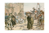 Frederick II at the Laying of the Foundations of the Castle on the River Spree in 1443 Giclee Print by Carl Rohling