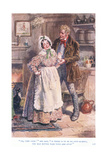 """Oh, Very Good!"" She Said, ""If There Is to Be No Love Making, You Better Take Your Arm Away Giclee Print by Charles Edmund Brock"