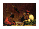 Winnebago Indians Playing Checkers, 1842 Giclee Print by Charles Deas