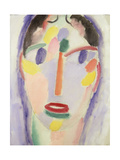 Blue Head; Kopf in Blau, 1918 Giclee-trykk av Alexej Von Jawlensky