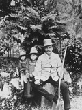 Self Portrait of August Strindberg, with His Children in the Country, 1886 Photographic Print by August Johan Strindberg