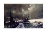 Torpedo Boats in Action at the Naval Manoeuvres Giclee Print by Charles Edward Dixon