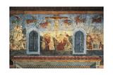 Crucifixion, Fresco Giclée-tryk af Andrea Del Castagno
