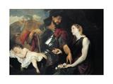 The Three Ages of Man, 1599-1641 Giclée-Druck von Anthony Van Dyck
