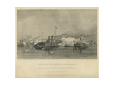 Action of the Gunboats at Memphis, C.1865 Giclee Print by Alonzo Chappel