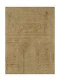 Design for a Triumphal Archway Giclee Print by Baccio Bandinelli
