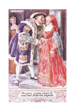 His Grace at Going Saluted All Round, Which Mother Took Delightedlie Giclee Print by Charles Edmund Brock